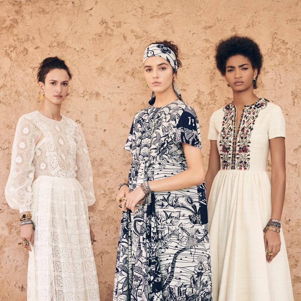 Dior nos enseña cómo usar las headpieces que presentó en su desfile Cruise 2020
