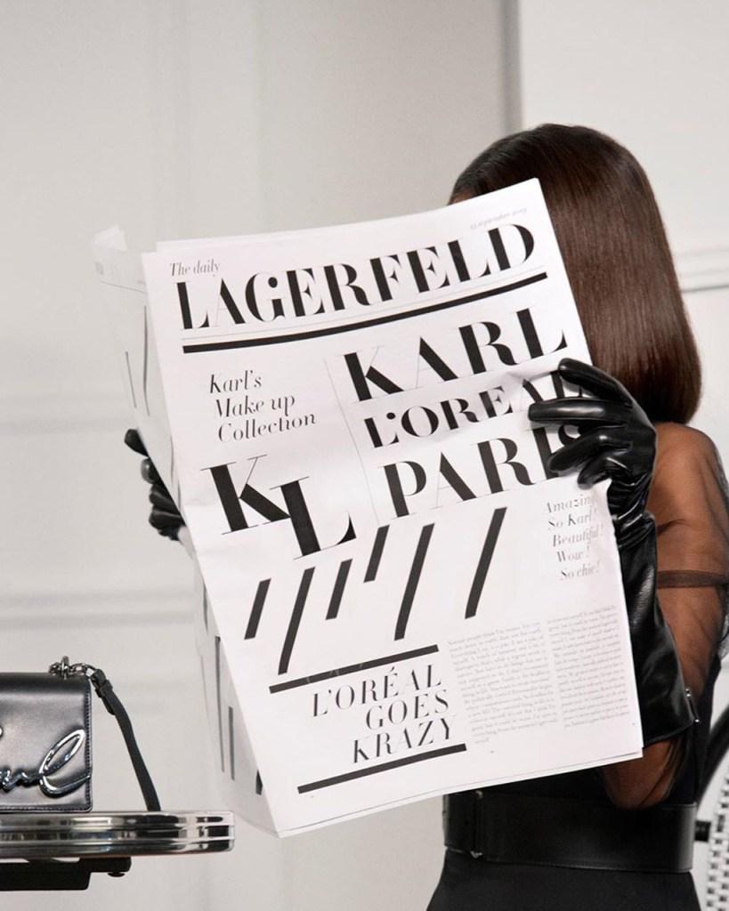 Antes de morir, Karl Lagerfeld creó una colección con L'Oréal Paris