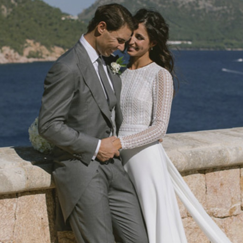 Así fue el vestido de novia de la esposa de Rafa Nadal