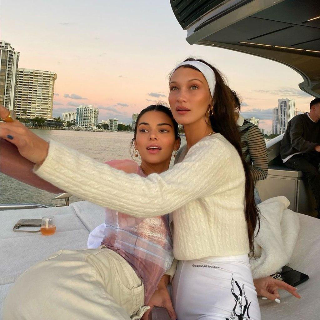 Las vacaciones de Bella Hadid y Kendall Jenner en Miami nos están dando mucha envidia