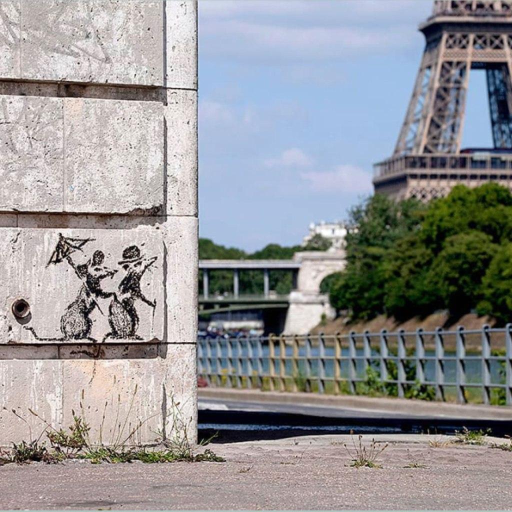 El artista Banksy publicó su nueva obra y sí, está en el baño de su casa
