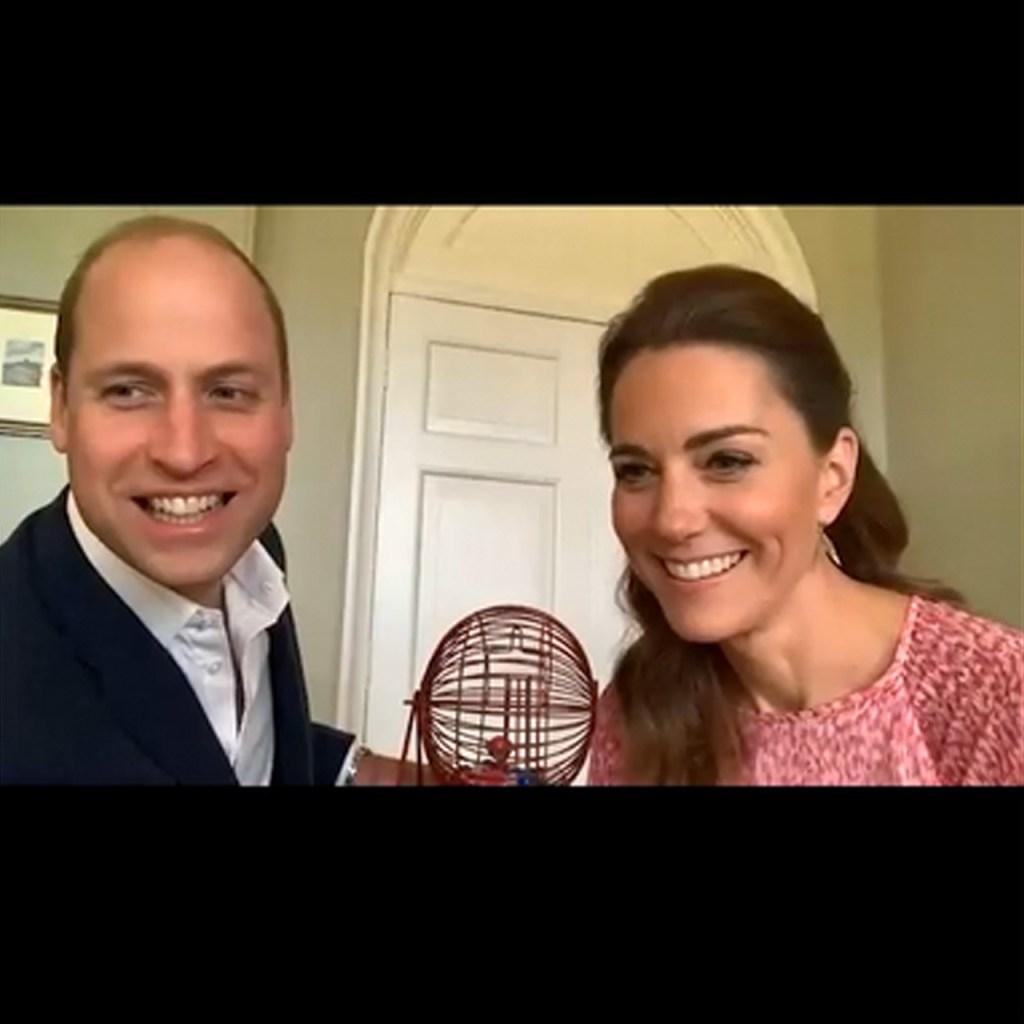 William y Kate jugaron bingo en una de sus videollamadas