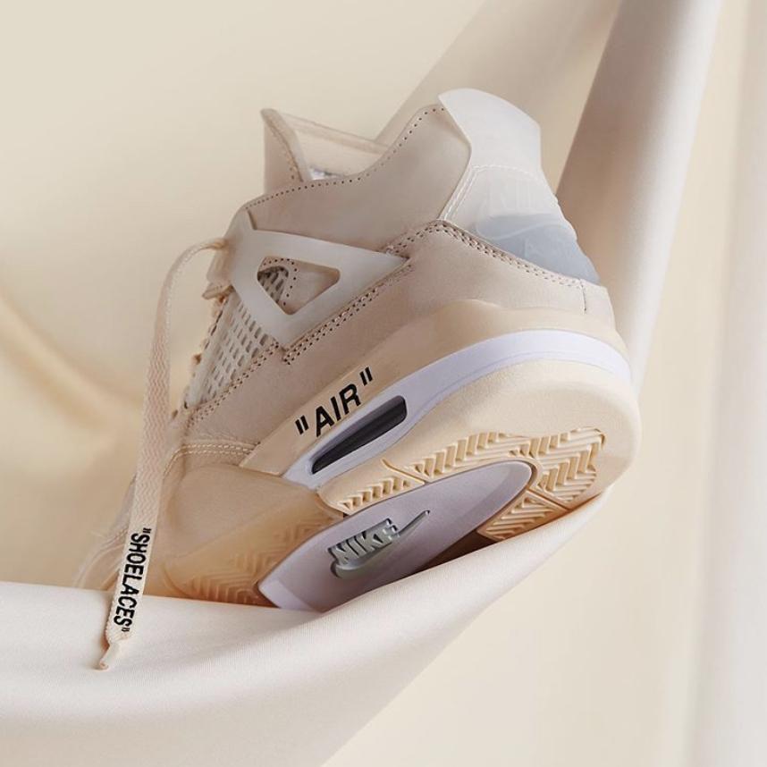 Los tenis más cool Air Jordan IV x Off White que ayudan a la educación