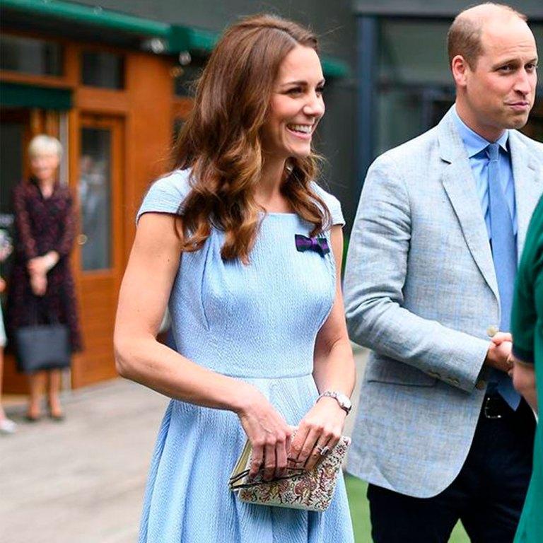 Kate se inspiró en Wimbledon para su look en una videollamada de Zoom