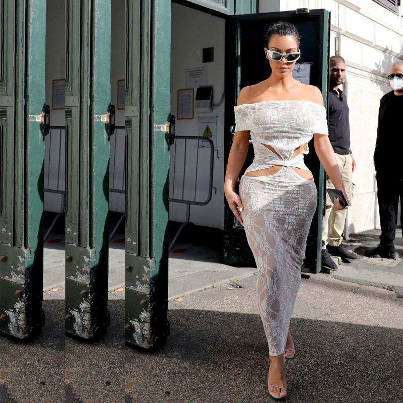 Kim Kardashian usó un vestido de un diseñador mexicano para el Vaticano