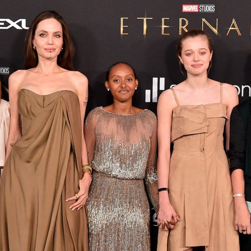 Zahara usó uno de los vestidos de Angelina Jolie en la premiere de Eternals