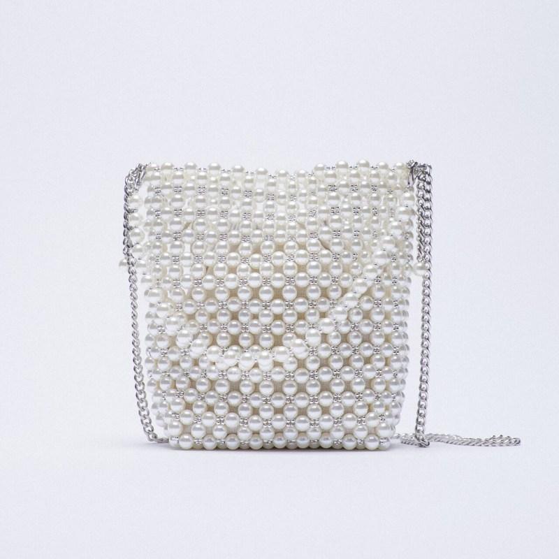 Bolsa perlas Zara