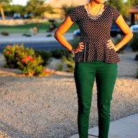 Party It Up Printed Style: With One of My Favorite Looks ~ Polka Dot Peplum!