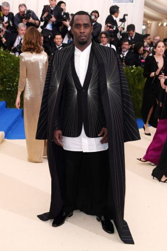 Sean Combs in Rick Owens with Christian Louboutin shoes