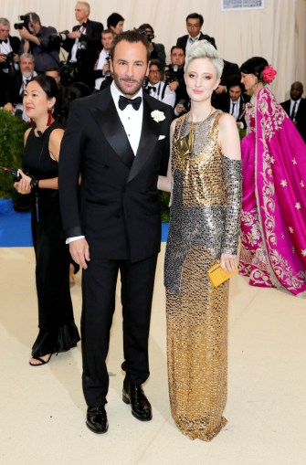Tom Ford and Andrea Riseborough