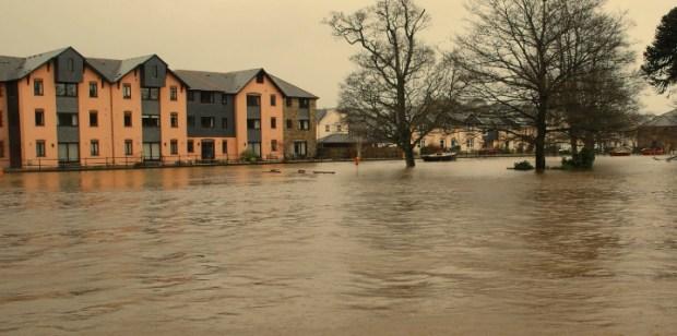 UK gov devon flooding risks to houses and businesses
