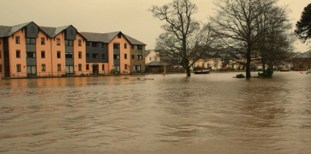 UK gov devon flooding risks to houses and businesses