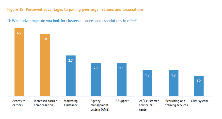 Evolving the independent agent channel - perceived advantages to joining peer organizations and associations