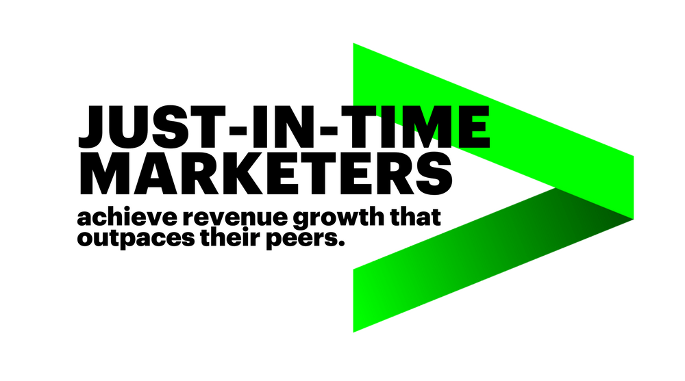 Just-in-time marketers achieve revenue growth that outpaces their peers