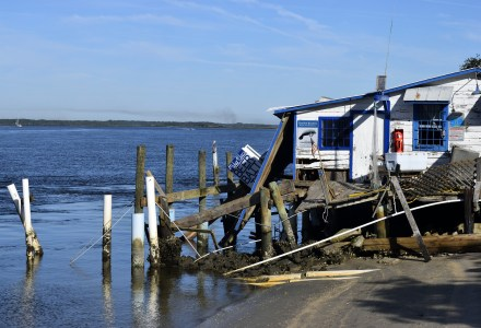 Rising sea levels threaten coastal properties.