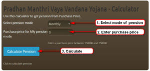 Premium Calculator pradhan Manthri Vaya Vandana yojana lic pension plan