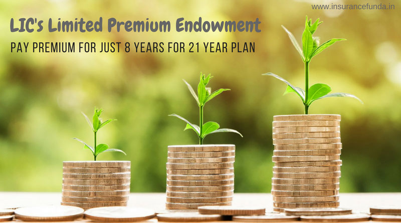 LIC Limited premium Endowment Plan 830 all details with premium and benefit calculators