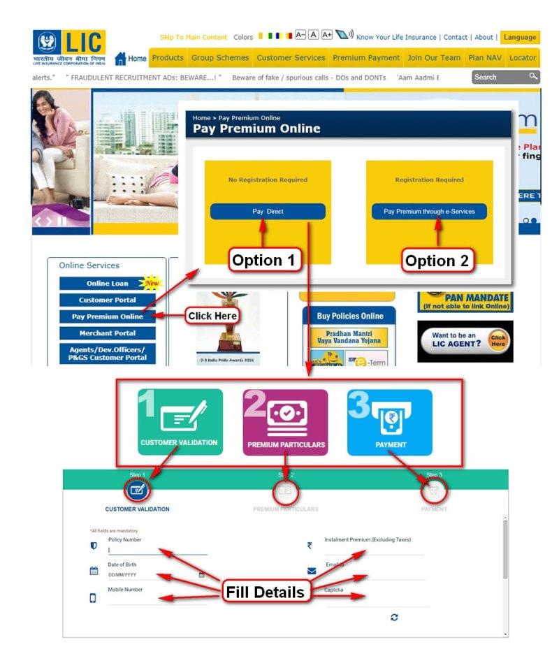 Pay LIC Premium uising BHIM UPI step by step guide