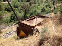 Recent mining equipment along Norton Ravine Creek.