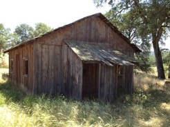 "Hallmark ""Loves Come Softly"" cabin movie set."