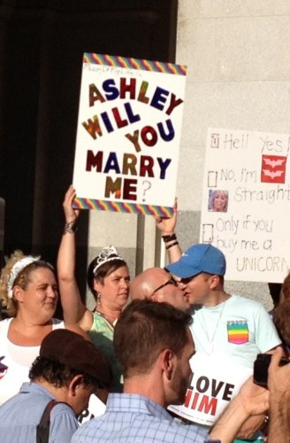 Ashley, will you marry me? #gaymarriage #LGBT