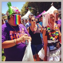 Sacramento Pride Festival, having fun.