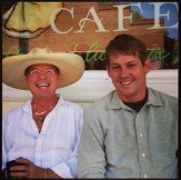 Dale Cameron and Tim Know hanging out on Main Street in Amador City