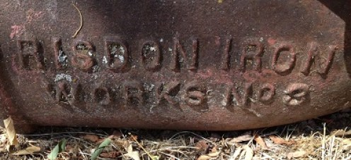 Risdon Iron Works No 3, base of a hydraulic monitor, they also supplied the pipe for the Schussler siphon.