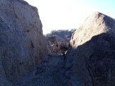 Cut through granite boulder for water pipe to Zantgraf Mine, Anderson Island.