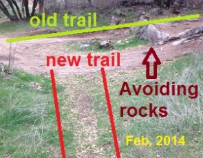 New mountain bike trail to avoid obstacles, Folsom Lake