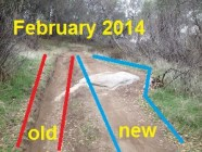 To avoid ruts and rocks, mountain bikes widen trail and erosion.
