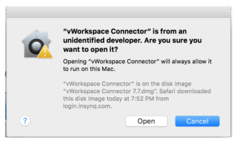 vWorkspace Connector install guide for Virtual Desktop Mac users image
