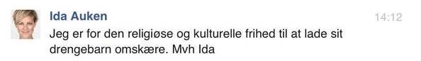 Omskæring Ida Auken