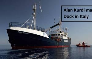 Alan Kurdi may dock in Italy