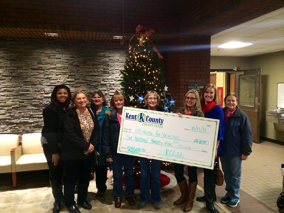 KCCU donation to GR Home for Veterans