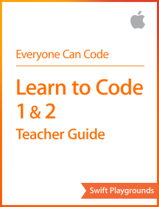 Swift Playgrounds Teacher Guide Cover