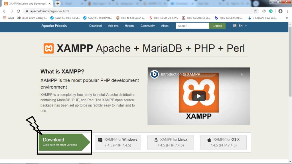 how to install wordpress local (downloading xampp)