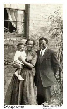 Young Nigerian family Glasgow Scotland 1960s | Photo source Reggie Akpata Nigerian Nostalgia Project