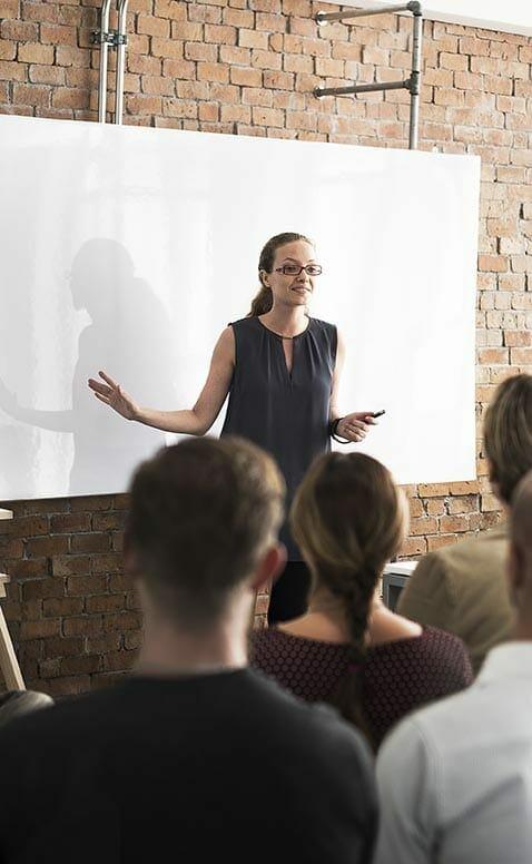 woman as a leadership coach