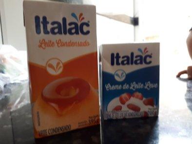 Pavê de pêssego - Leite condensado e creme de leite sem soro