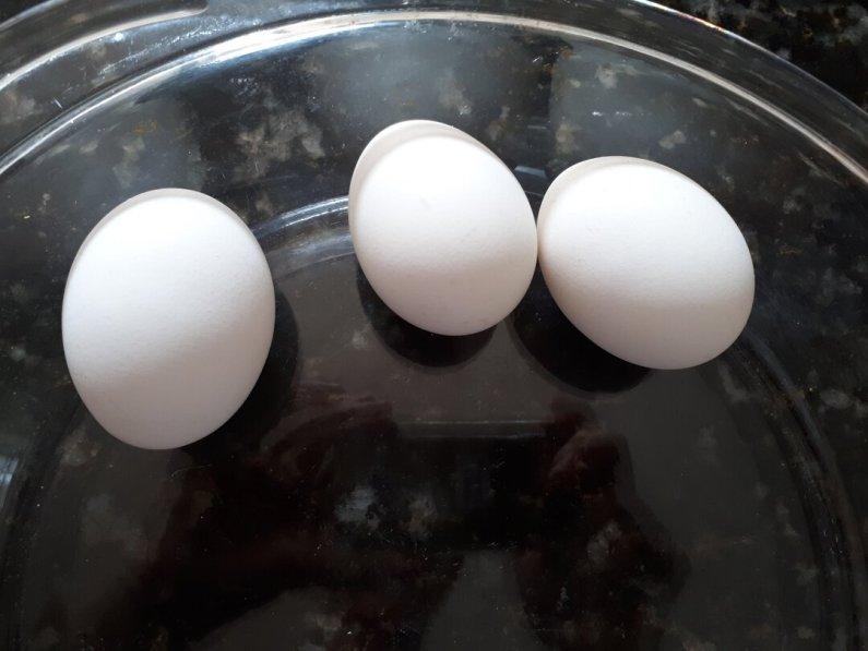 Pavê de pêssego - ovos