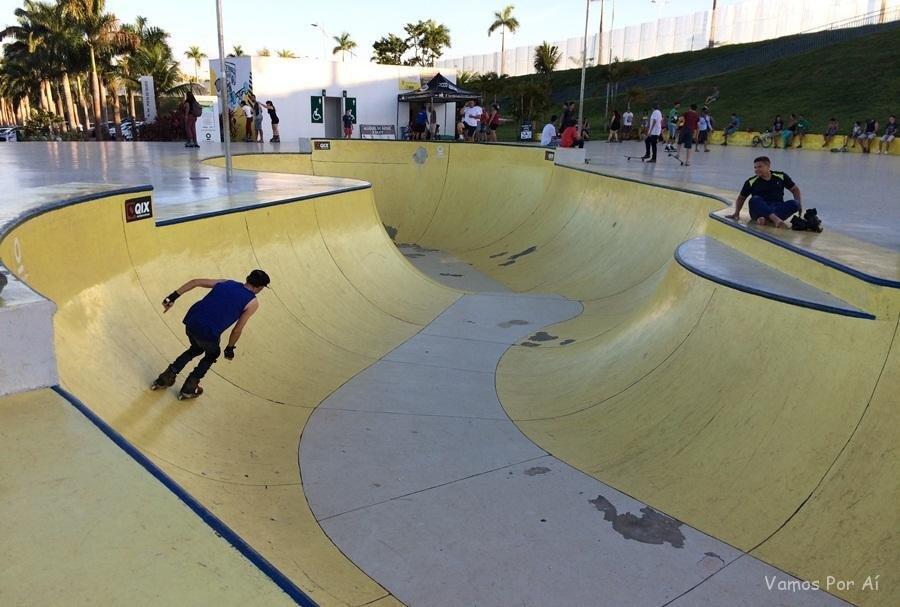 Pista-Skate-Parque-Marcos-Veiga-como aproveitar os parques de Goiânia com as crianças