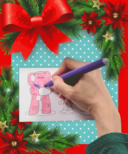 Comemorando o Natal com as crianças com atividades Diy 5