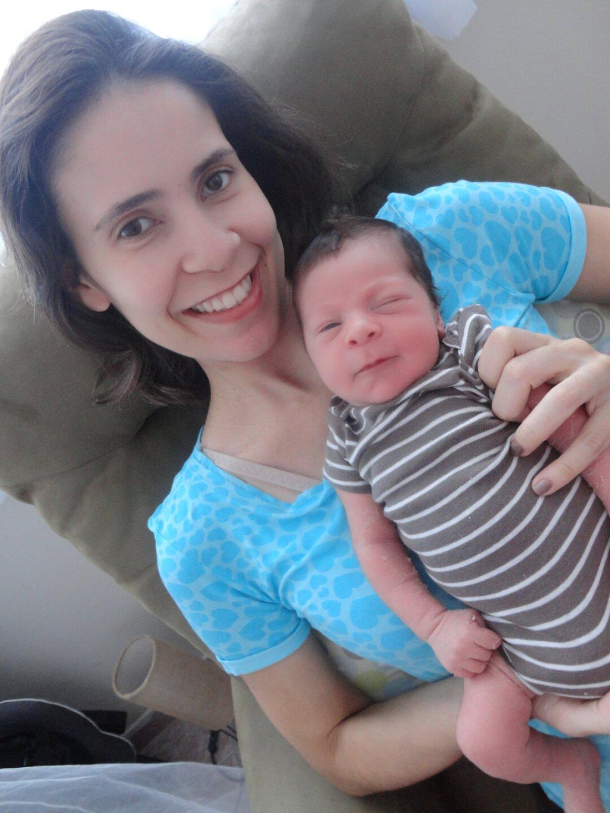 Estevão com 5 dias de nascido