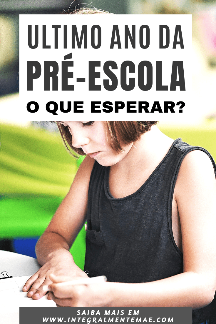 ULTIMO ANO EDUCACAO INFANTIL
