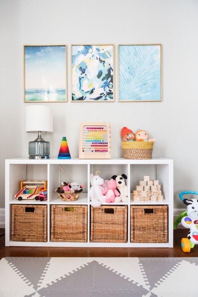 Decoracao quarto montessoriano - organizando brinquedos