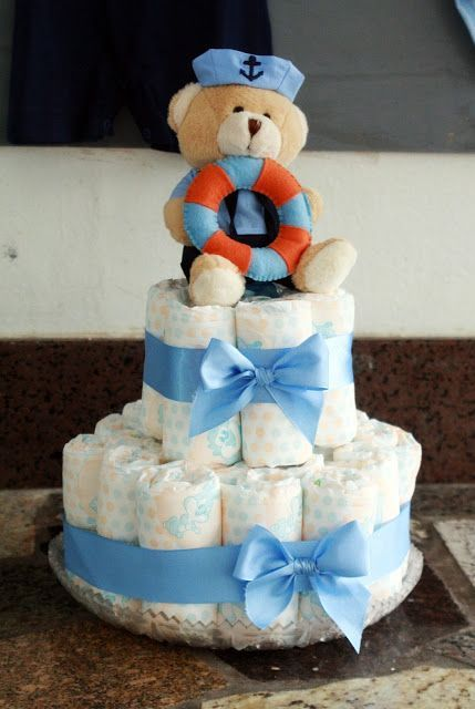 30 ideias de bolo de fraldas para chá de bebê – A Mãe Coruja