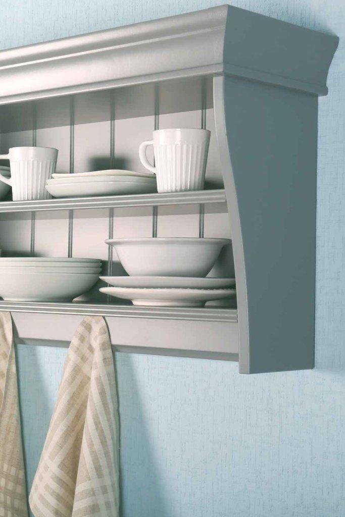 decoração de cozinha com prateleiras 11