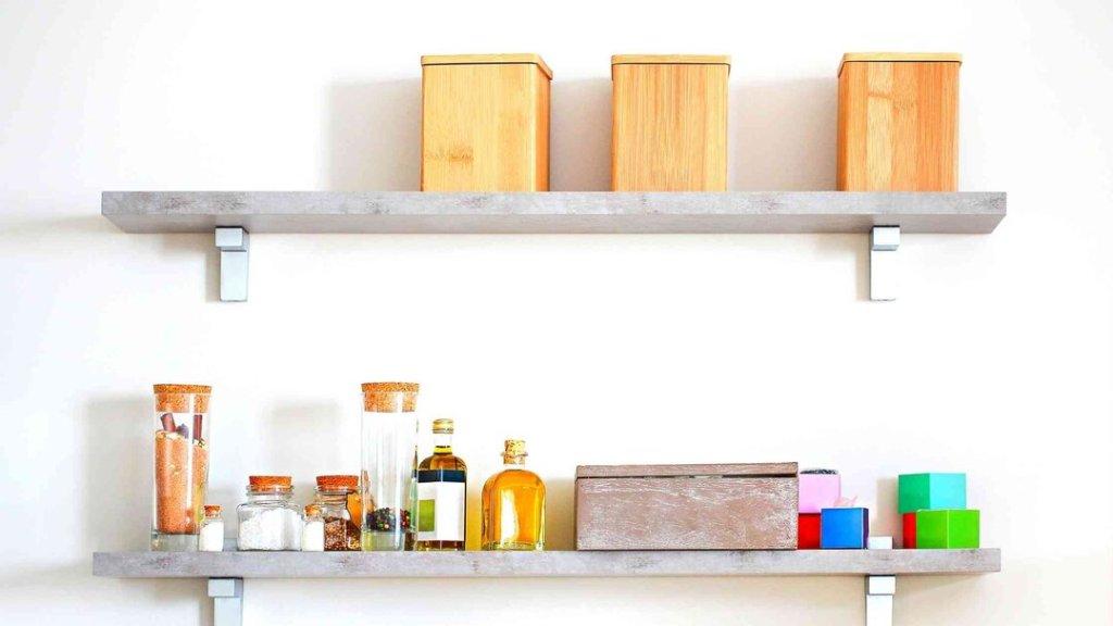 decoração de cozinha com prateleiras 4