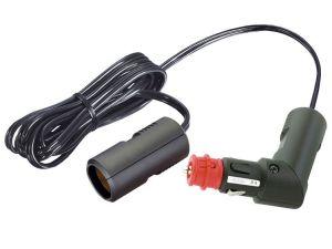 Adaptador para toma de corriente DIN con controlador de batería